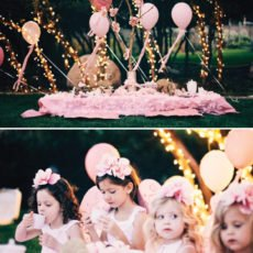 twinkle lights and pink for a fairy birthday party