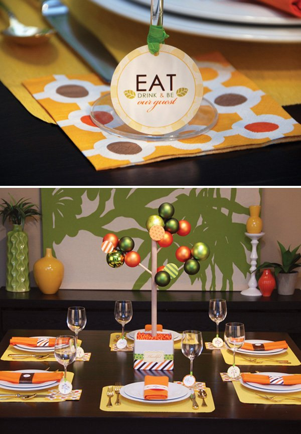modern thanksgiving table