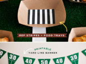 Free Printable Football Party Banner + Food Trays