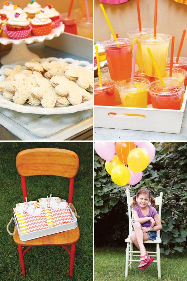 garden party snack and food ideas