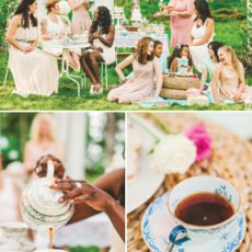 girl's garden tea party