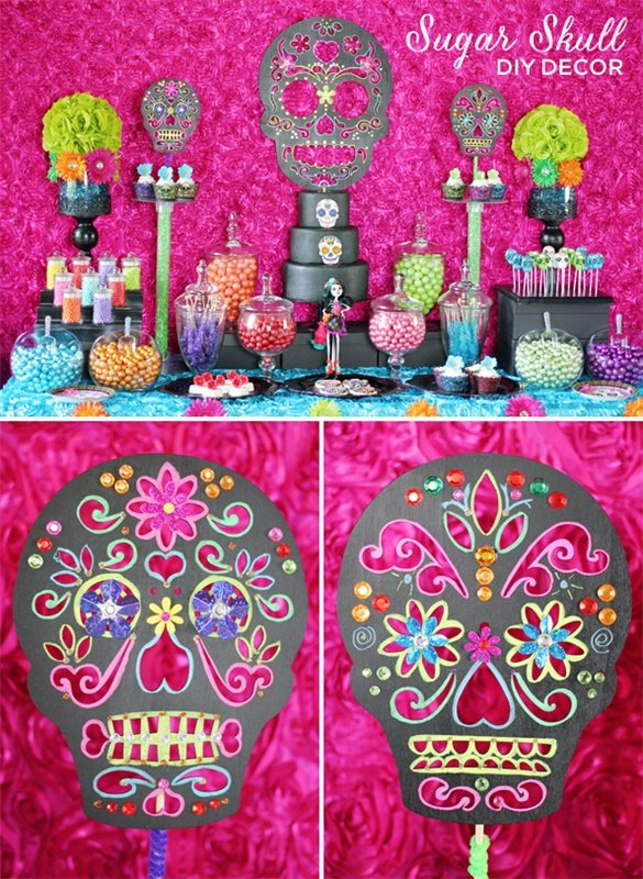 Trend Alert: DIY Day of the Dead Sugar Skull Party Decorations // Hostess with the Mostess®