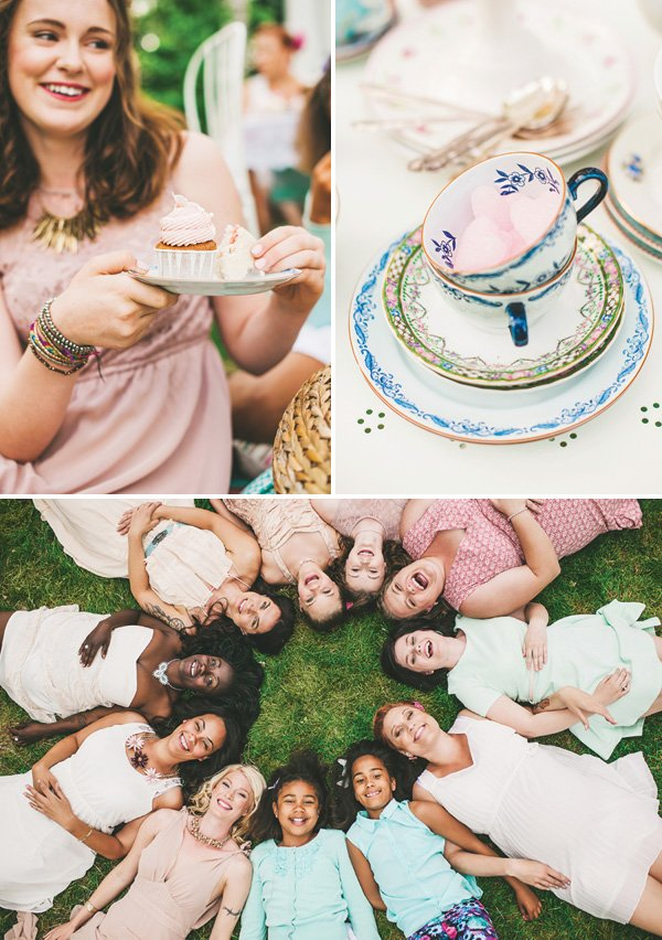 ladies tea party photo shoot