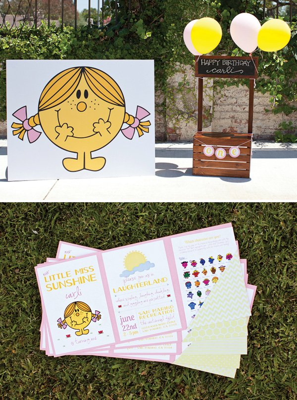 little miss sunshine birthday party invitation