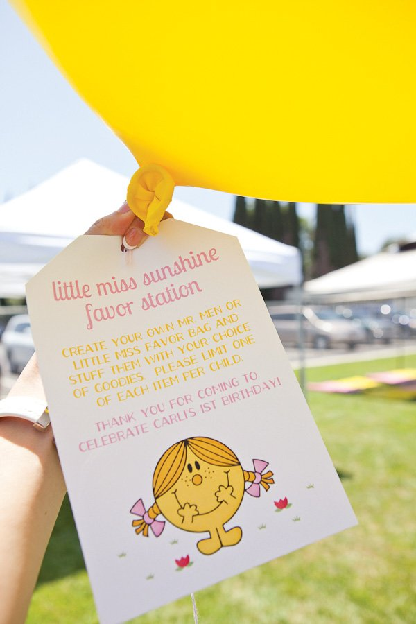 little miss sunshine party favors