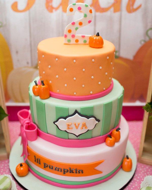 Little Pumpkin Birthday Cake