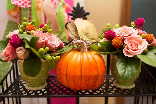 Pumpkin Birthday Centerpieces