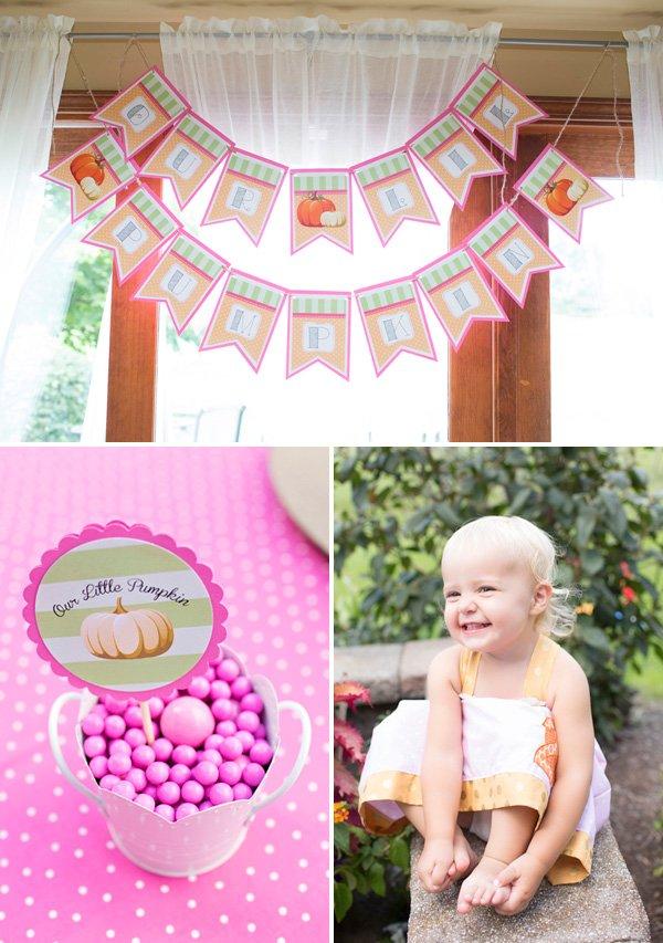 Little Pumpkin Birthday Party Decorations