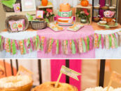 Little Pumpkin Birthday Party Dessert Table