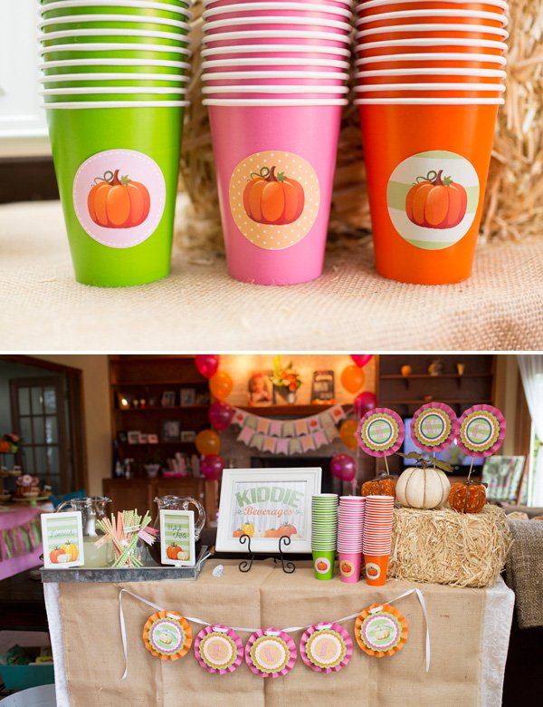 Pumpkin Birthday Drink Station