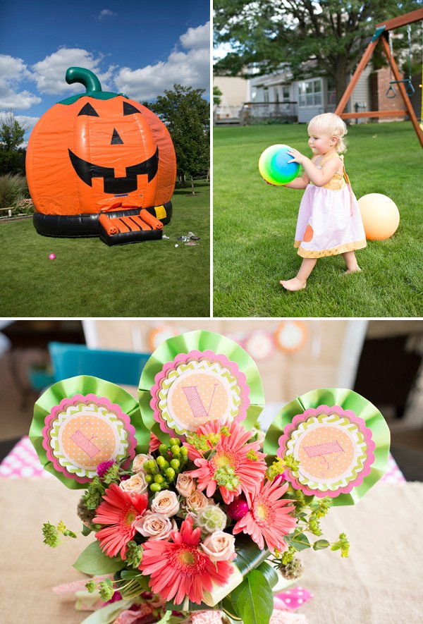 Pumpkin Birthday Bounce House