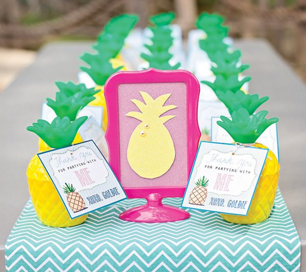 pineapple birthday party favors