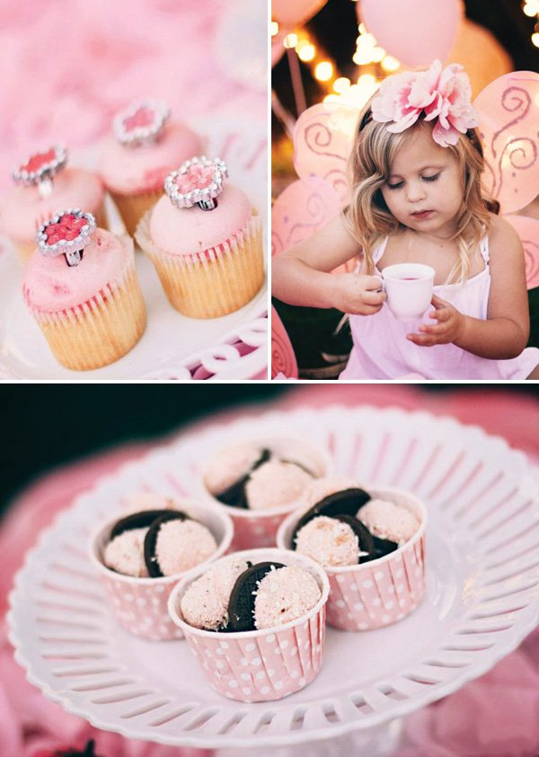 pink fairy birthday party dessert ideas