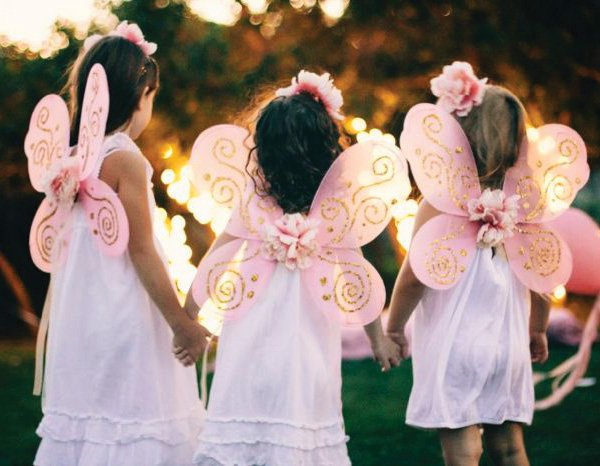 pink fairy wings for a birthday party