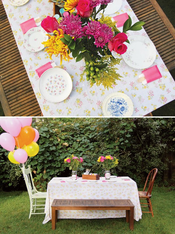 pink and sunny girly garden birthday party