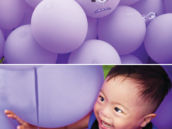 purple minion balloons
