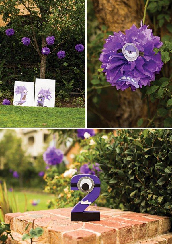 Purple Minion Despicable Me Birthday Party Decor