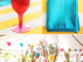 rainbow candy themed party tablescape