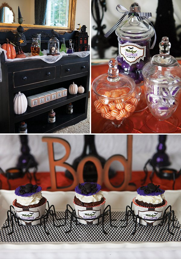 spider cupcakes and other halloween treats