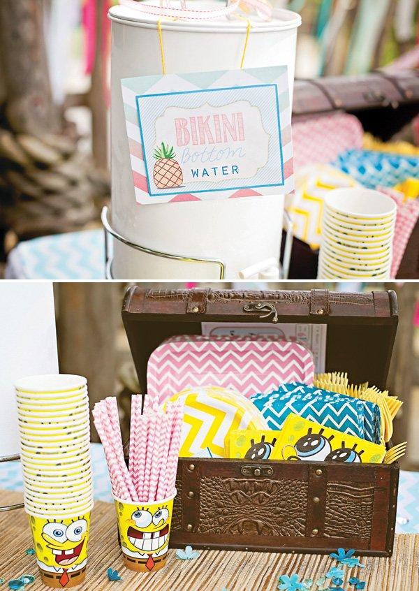 spongebob squarepants party drink ideas