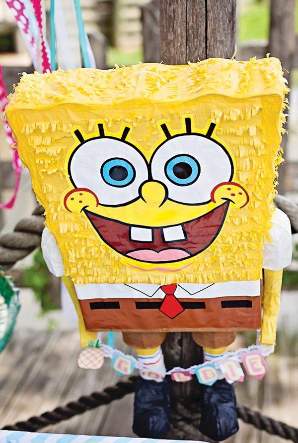 spongebob squarepants birthday party piñata