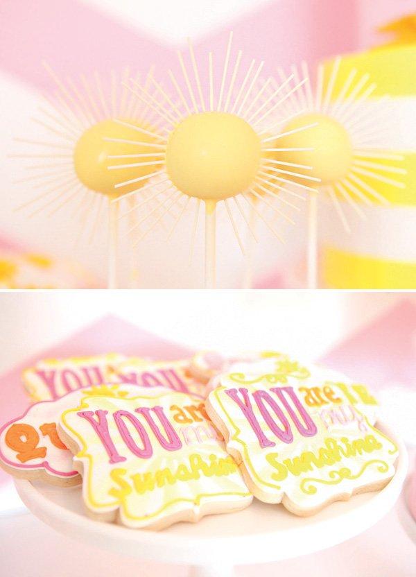 you are my sunshine birthday party dessert ideas