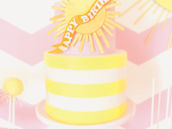 yellow striped you are my sunshine birthday cake
