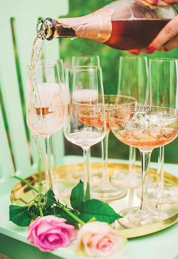 tea party drink ideas like pink champagne