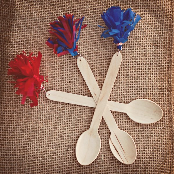 wooden spoons with tassels