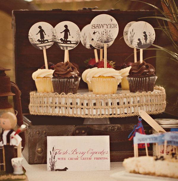 tom sawyer party cupcake toppers