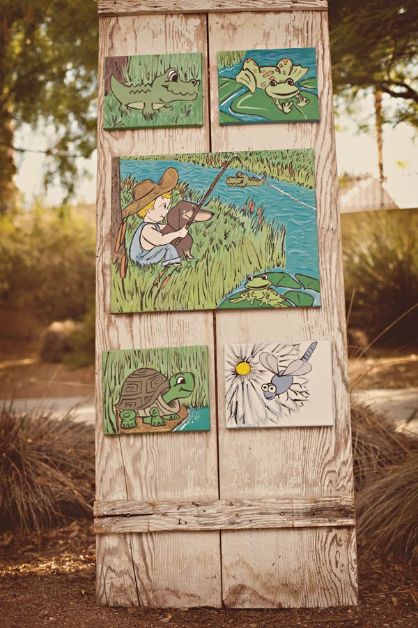 custom tom sawyer party artwork
