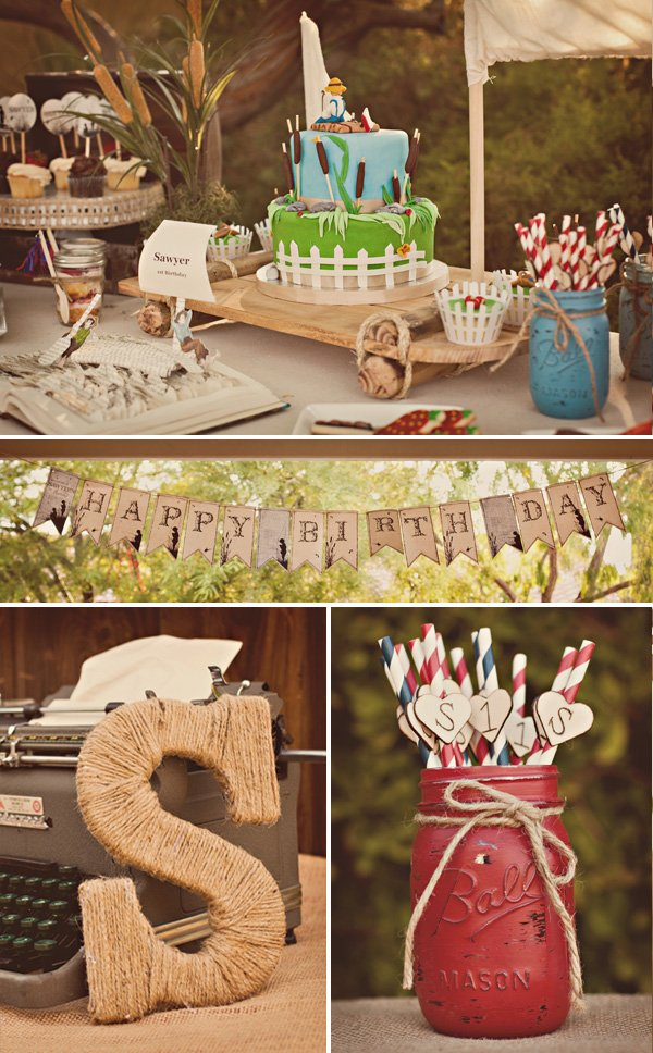 tom sawyer party decorations and details