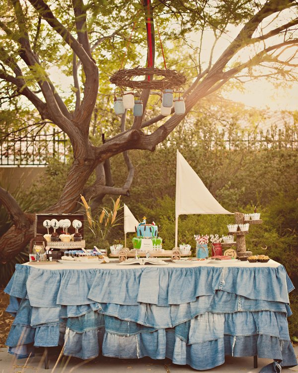 tom sawyer birthday party dessert table