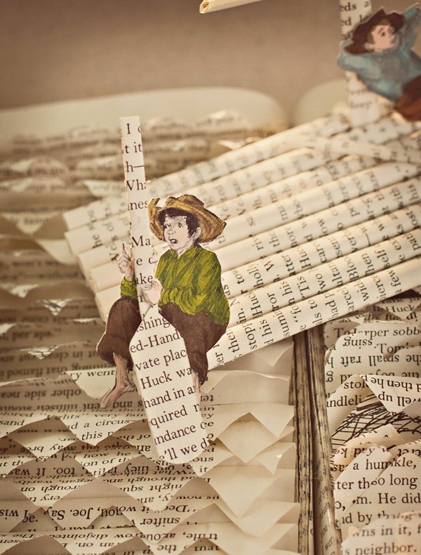 tom sawyer birthday book sculpture