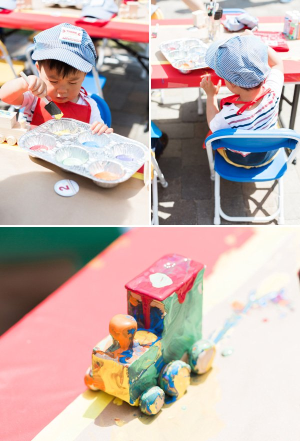 train party craft activity