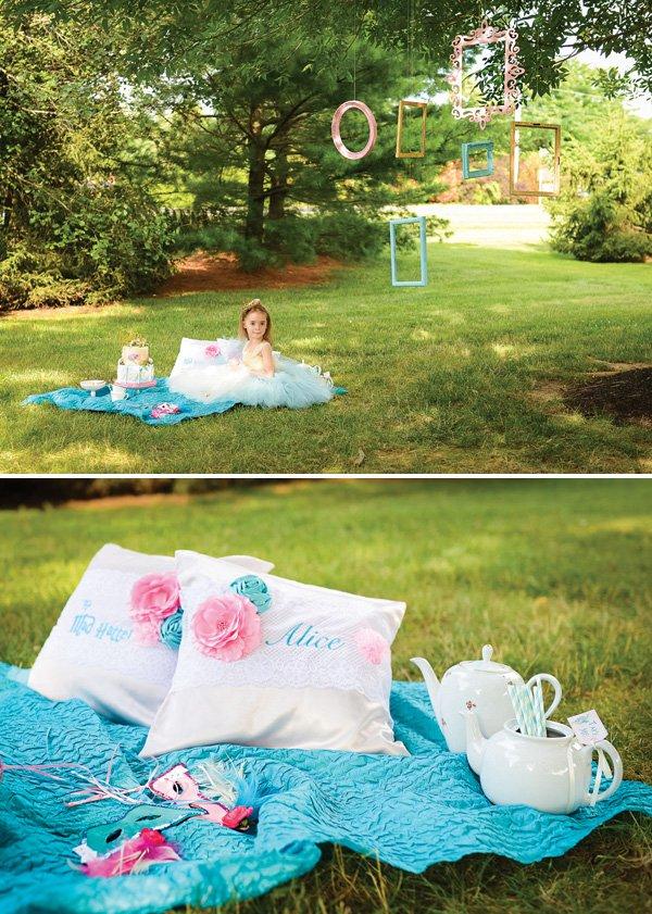 whimsical wonderland picnic party decor