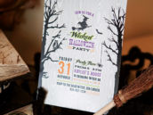 witchy halloween party invitation