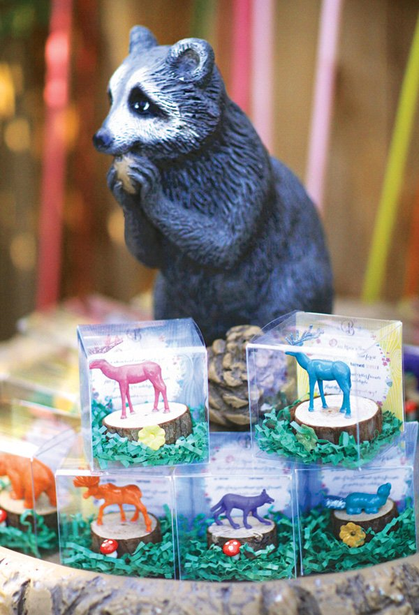 woodland animal figurine party favors