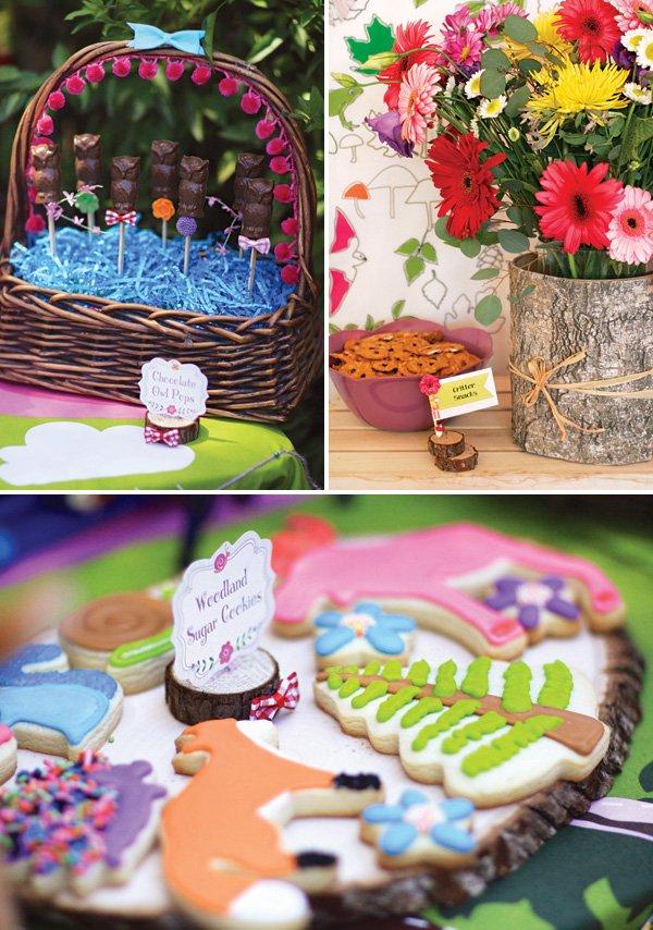 woodland birthday party dessert ideas