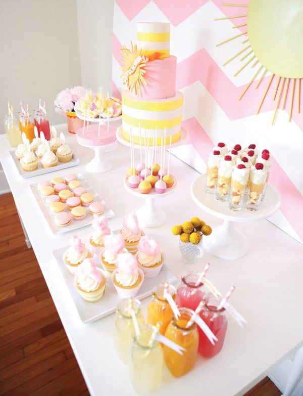 you are my sunshine birthday party desserts or sweets