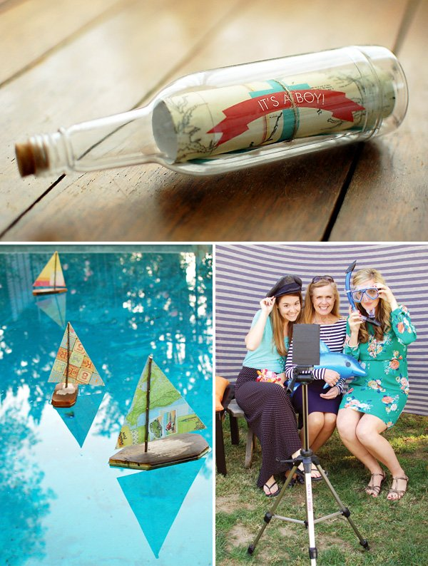 Creative Nautical Baby Shower {Coral & Aqua}