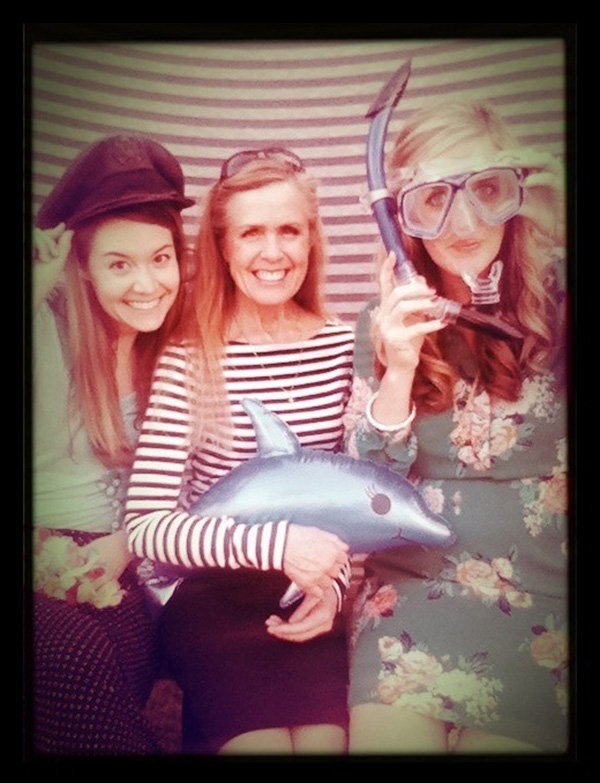 nautical baby shower photo booth