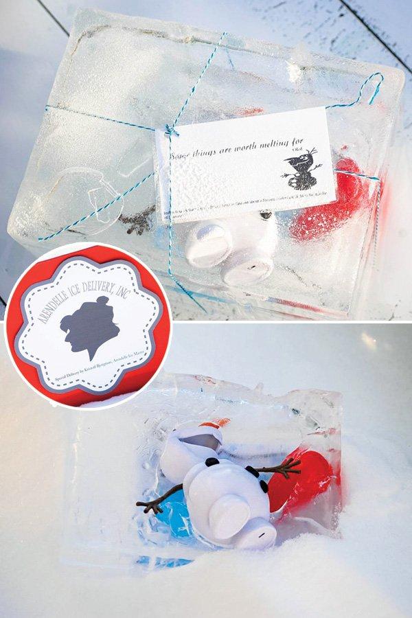 DIY frozen ice block inviation