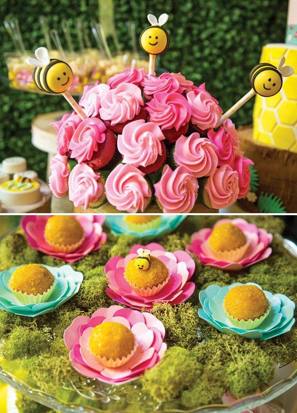 bumblebee and flower dessert ideas