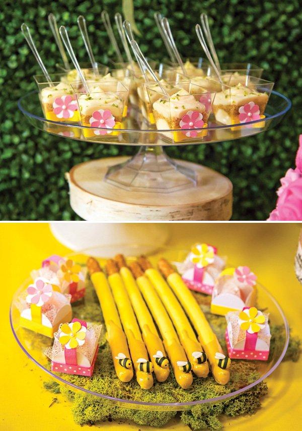 bumblebee honey birthday party snacks