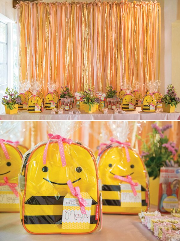bumblebee birthday party favors