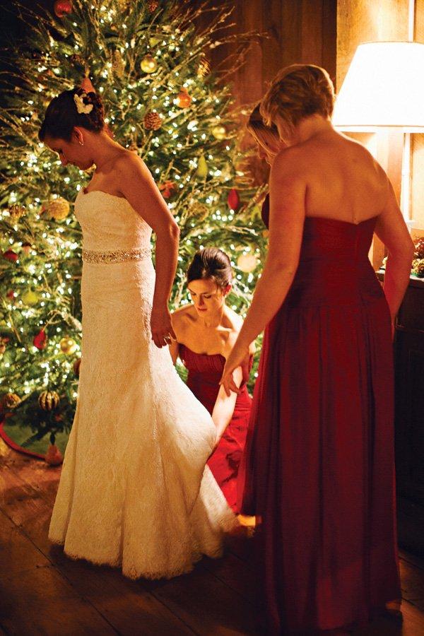 christmas tree wedding decor