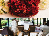 christmas themed wedding bouquets