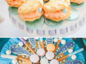 clamshell pearl cookies and seahorses