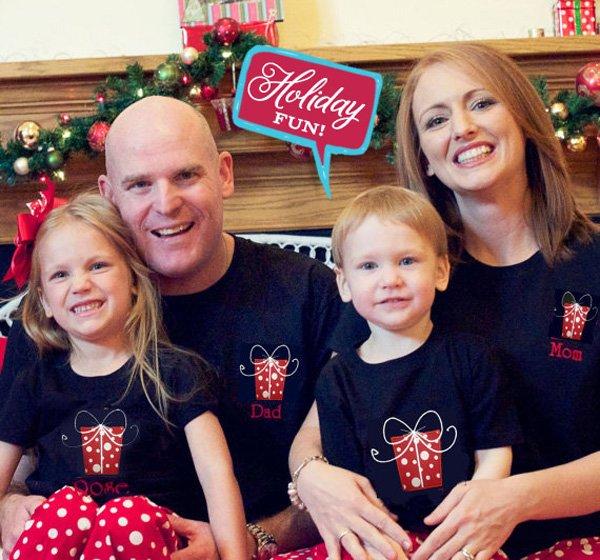 personalized set of family pajamas